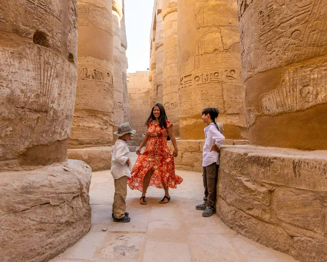 Karnak Temple in Luxor with kids