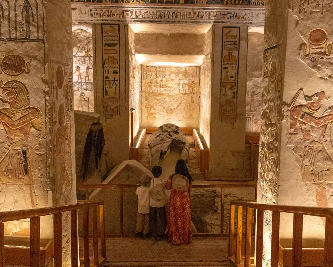 Sarcophogas in Valley of the Kings Luxor Egypt