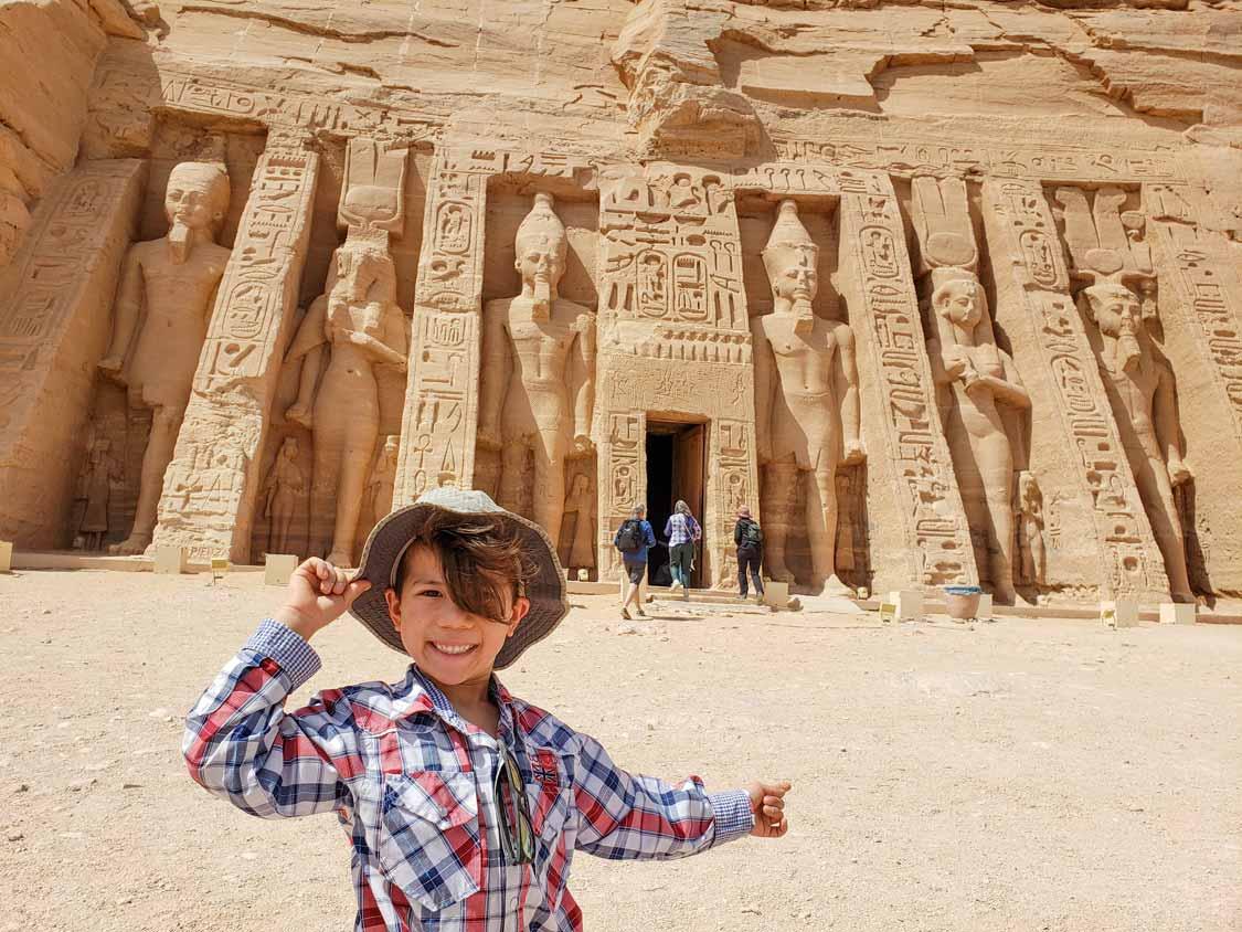Small Temple of Nefertari for kids at Abu Simbel Egypt