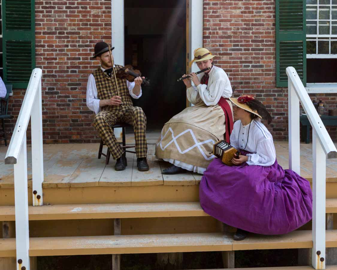 Musicians at Upper Canada Village in the Thousand Islands