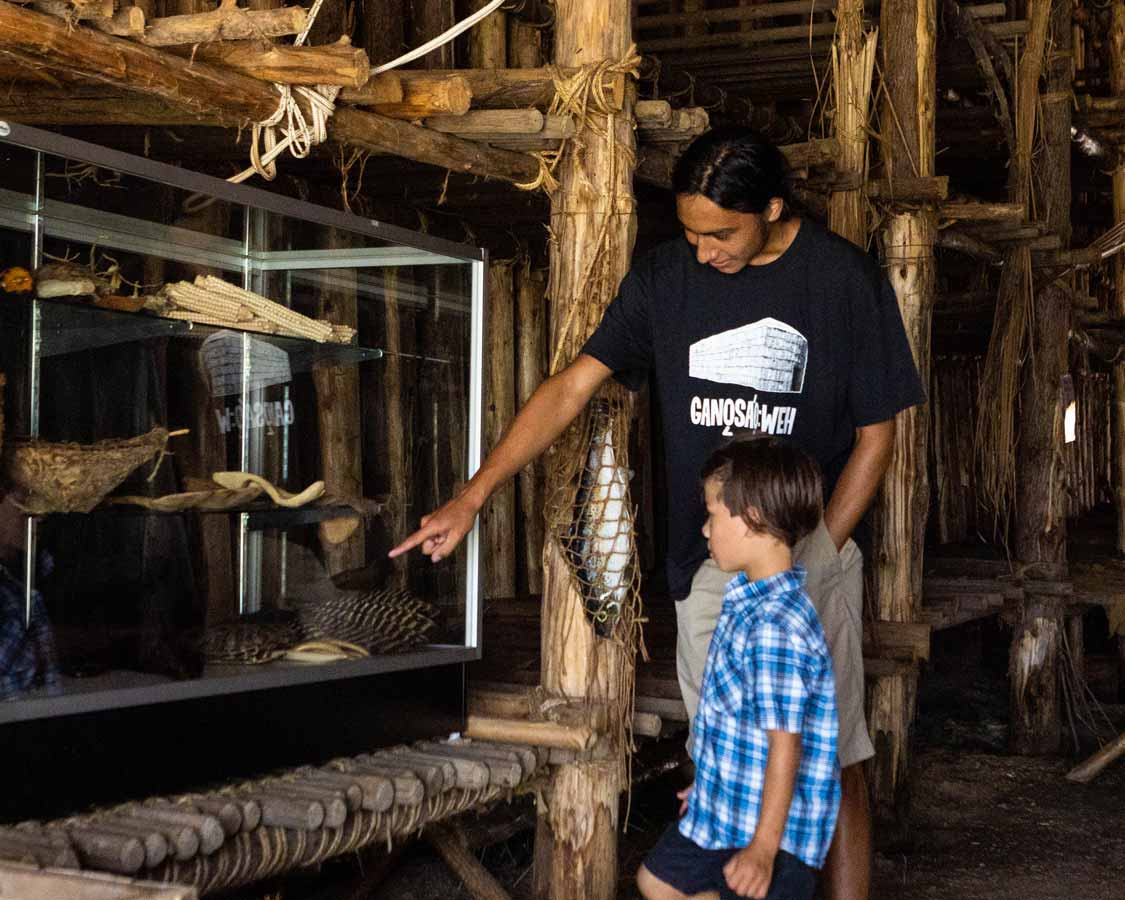 Exploring the artifacts at the OSTTC Longhouse in Six Nations