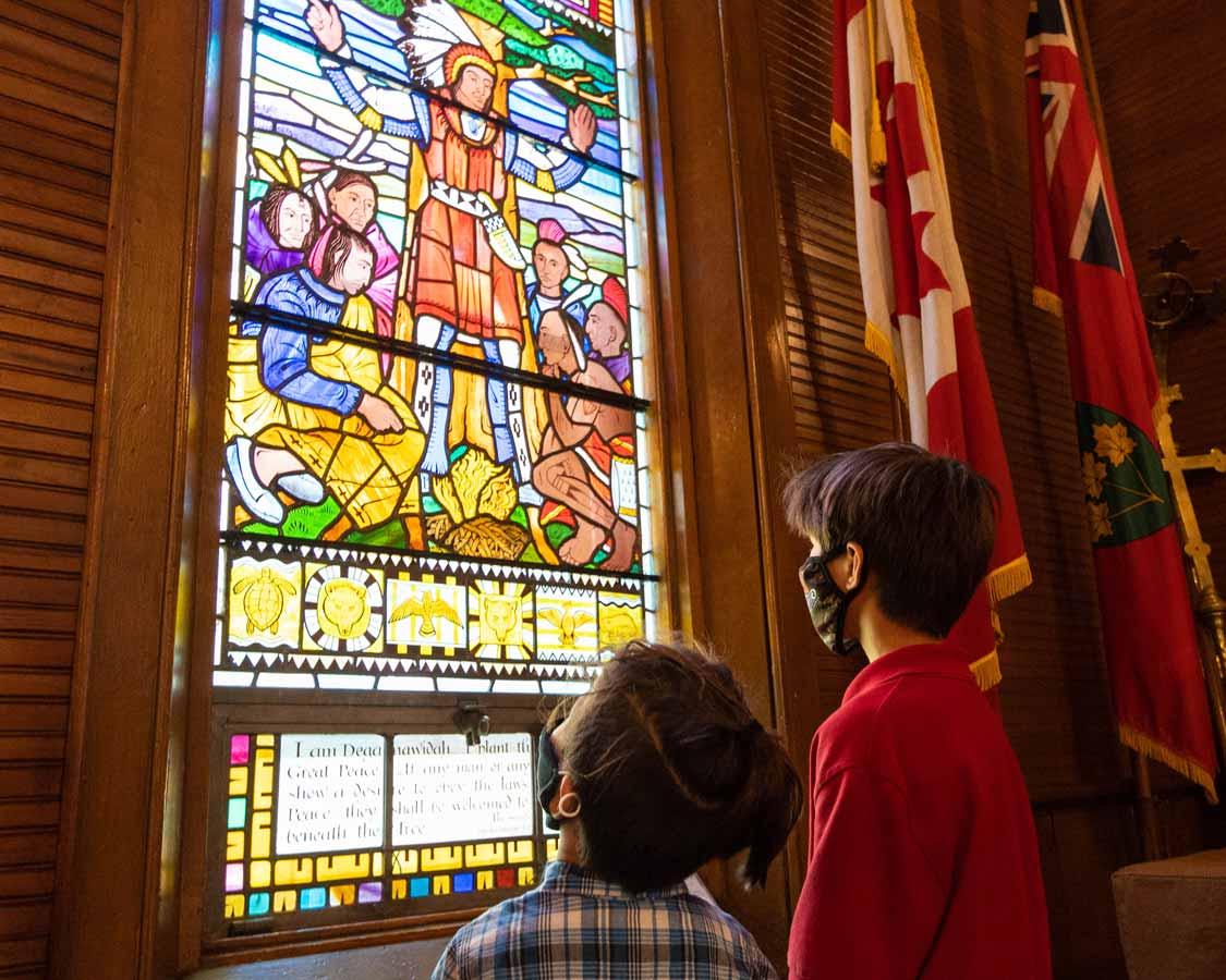 Stained Glass Windows of the Mohawk Chapel in Brantford Ontario