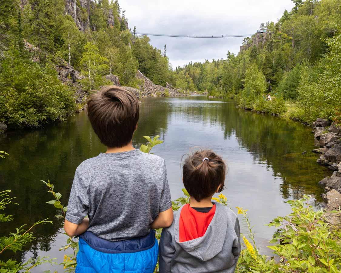 Canada's longest suspension bridge at Eagle Canyon Adventures