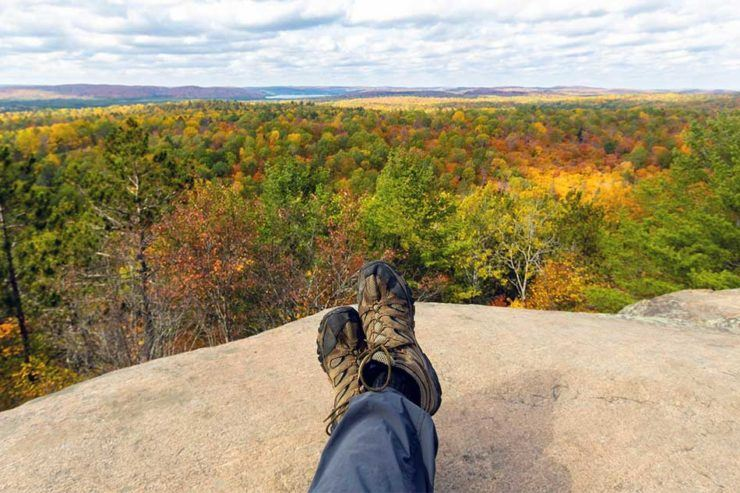 Looking over the fall colours in Algonquin Provincial Park