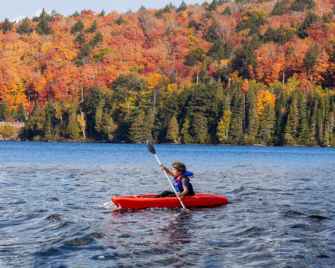 Fall paddling in Algonquin Provincial Park