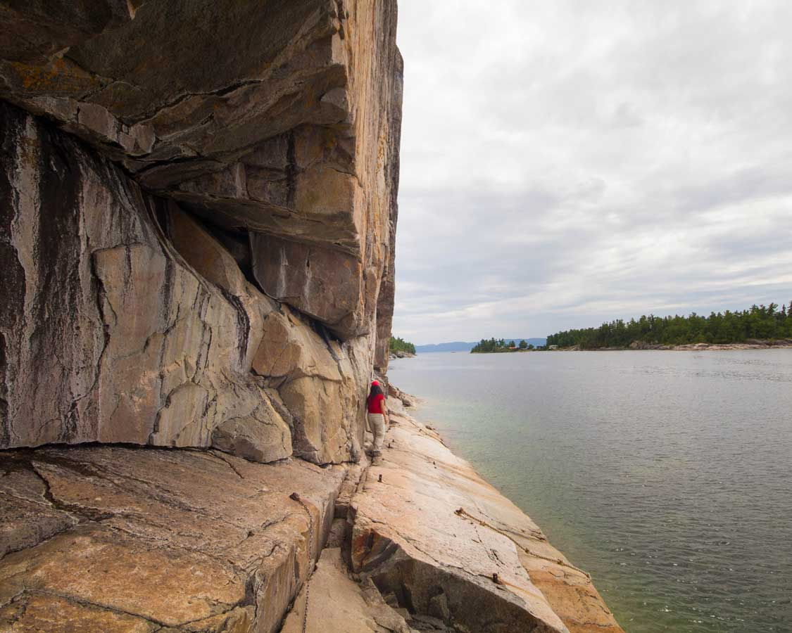 Hiking to the Agawa Rock Pictographs in Lake Superior Provincial Park