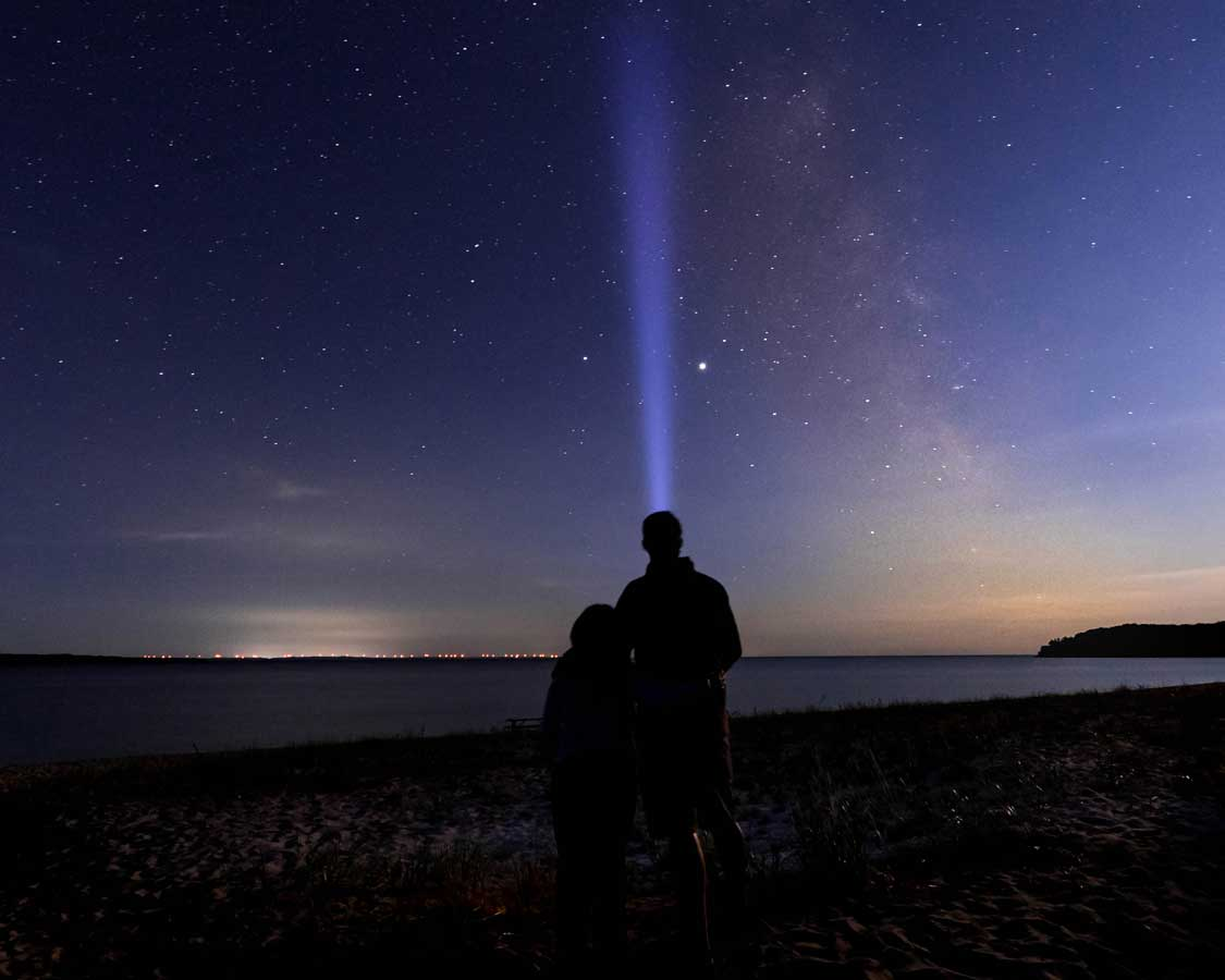Night Sky at Pancake Bay Provincial Park