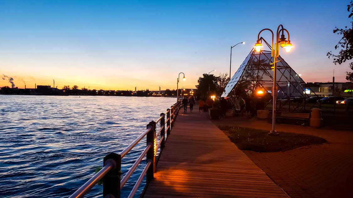 Sunset at the Waterfront in Sault Ste Marie, Ontario
