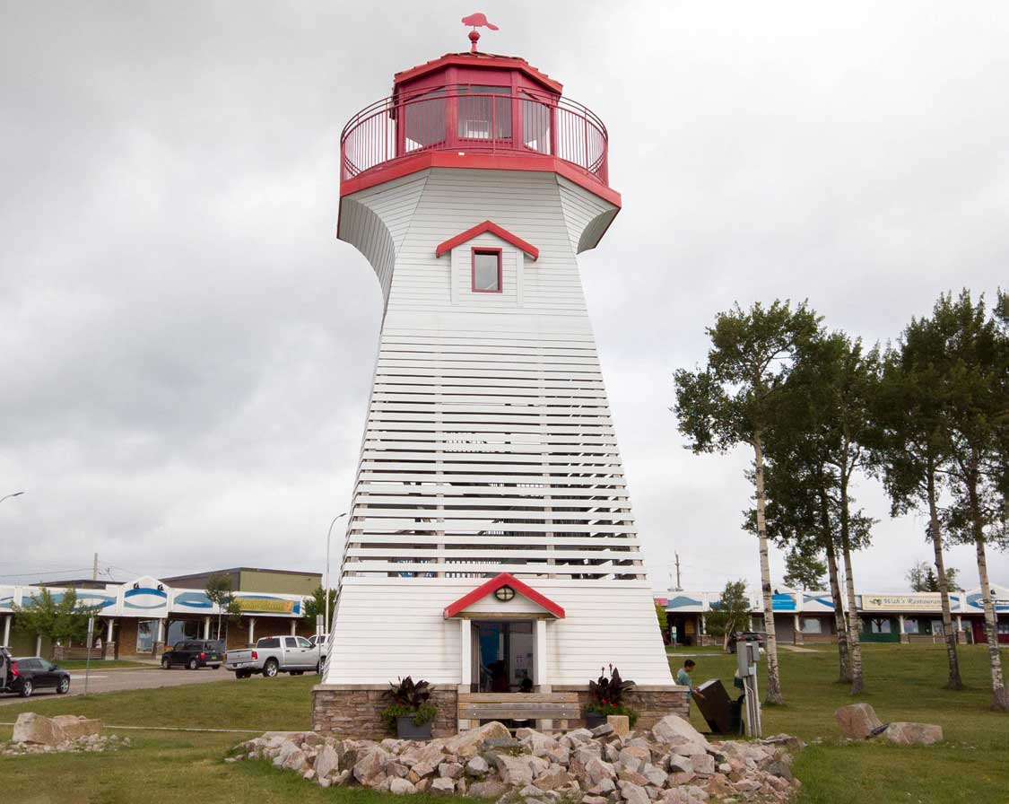Terrace Bay Lighthouse on the Sault Ste Marie to Thunder Bay road trip