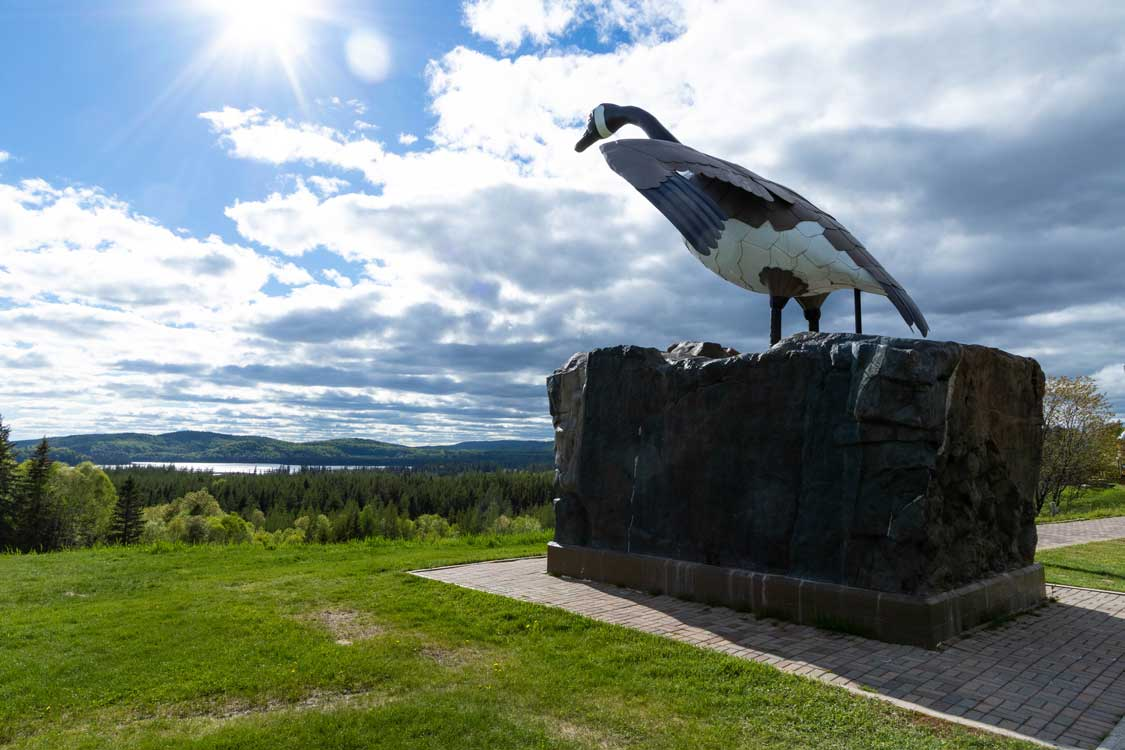 The Wawa Goose between Sault Ste Marie and Thunder Bay