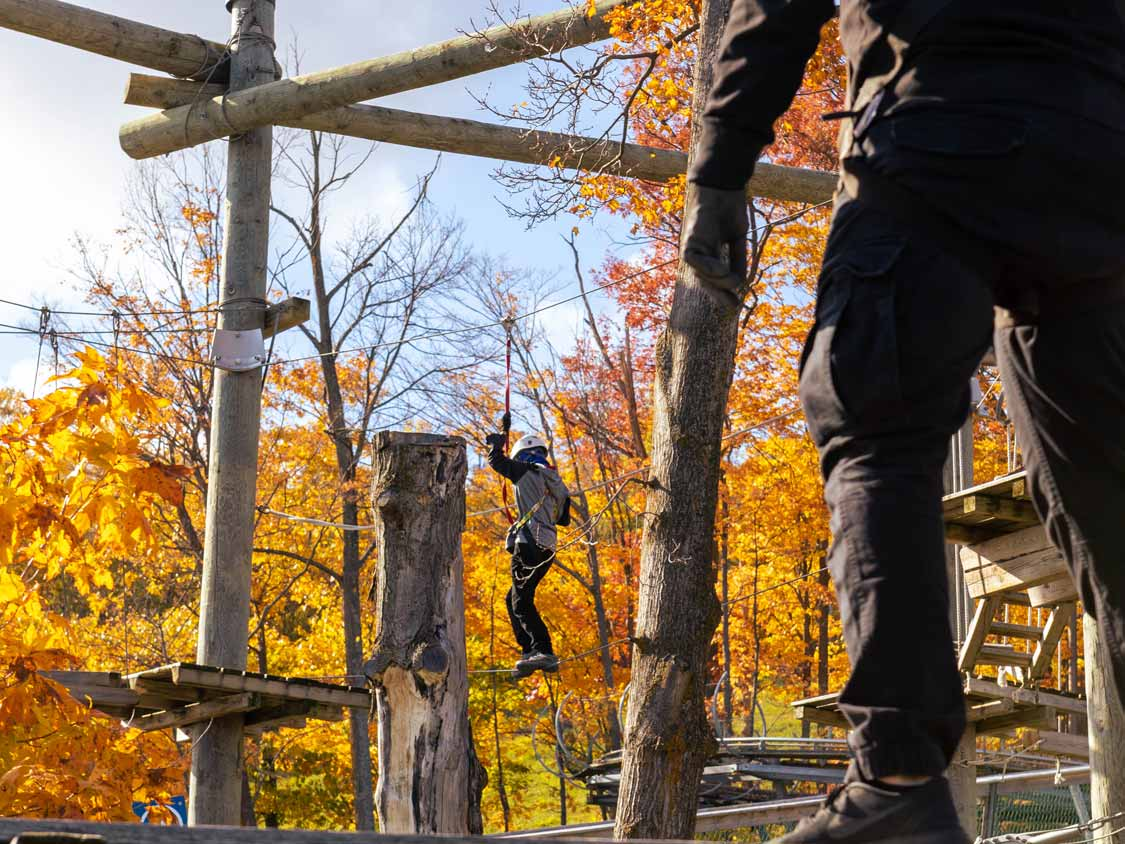 Timber Challenge Ropes Course at the Blue Mountain