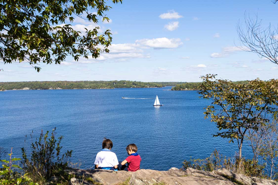 View from the Lookout Point Trail at Killbear Provincial Park