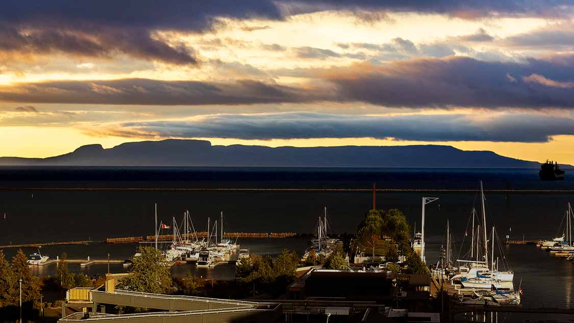 View of Sleeping Giant from the Thunder Bay waterfront